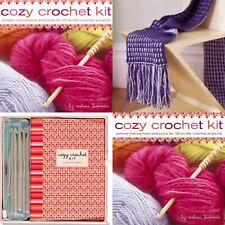 New Cozy Crochet Kit 25 Projects Yarn Hooks Boxed Set Learn By: Melissa Leapman