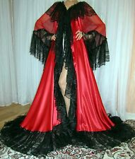Vtg satin nylon lingerie nightgown long full sweep robe negligee XL-3X