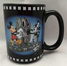 WDW Disney 75 Years With Mickey Mouse Movie Reels Black Coffee Mug Cup 16 Oz