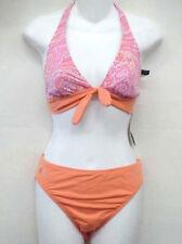 RALPH LAUREN Paisley Halter Bikini Swimsuit 14 Cup B C NEW