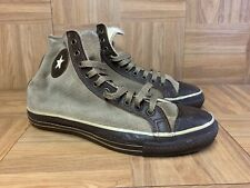 Vtg🔥 Converse Brown Leather Perforated Suede Hi Top Made in Usa Sz 8 Vintage