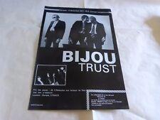BIJOU - TRUST - Publicité / Advert VINTAGE 70'S !!! CONCERT !!!