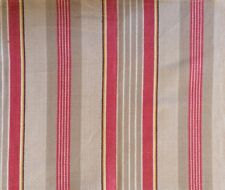DESIGNERS GUILD Newlyn St. Mawes Stripe Red Natural Cotton Remnant New