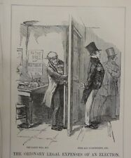 """7x10"""" punch cartoon 1853 THE ORDINARY LEGAL EXPENSES OF an ELECTION"""