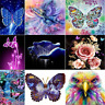 DIY 5D Diamond Embroidery Painting Cross Stitch Kit Flower Butterfly Home mmvv