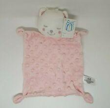 01 - DOUDOU PLAT OURS ROSE SIMBA TOYS BENELUX PETITES BOULES RELIEF NEUF