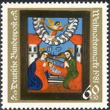 Germania 1981 Natale/Saluti/Natività/arte/VETRO COLORATO/BOVINI 1v (g10102)