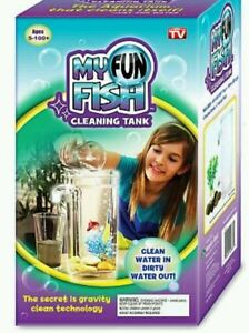 My Fun Fish Tank Mini Aquarium Self Cleaning Kids Office Desktop Decoration