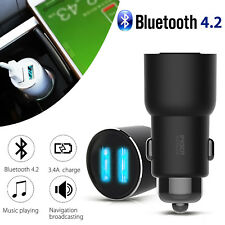 Xiaomi ROIDMI 3S Car Bluetooth FM Transmitter MP3 Player Dual USB Charger NEW