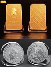 24K Gold clad art bars/coin