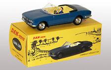 DAN TOYS Peugeot 504 Cabriolet Bleu avec Conducteur DAN 248