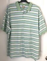 L.L. Bean Men's Polo Shirt Short Sleeve XXL Striped 2XL