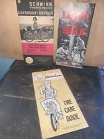 VINTAGE SCHWINN BICYCLE OWNERS MANUAL AND PAPERWORK 1970's.