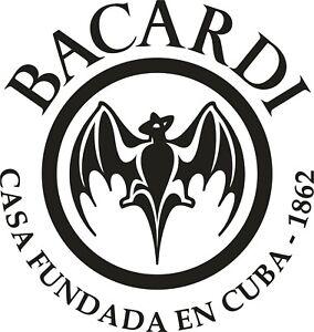 LARGE BACARDI IMAGE VINYL STICKER,DECOR,FOR WALL, GARDEN BAR, MAN CAVE