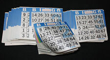 BINGO PAPER Cards sheets 1 on 6 up Blue Border  100 packs  FREE SHIPPING IN US
