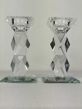 2er Set Kristall Kerzenständer Kerzenhalter Kerzenleuchter Leuchter Kristall Neu