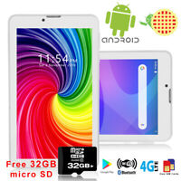 """7.0"""" Android 9.0 Tablet PC 4Core Phablet GSM 4G Phone FREE 32GB microSD Unlocked"""