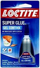 New 4g *LOCTITE* Super Glue GEL Control Clear NO DRIP Leather Cork Rubber 234790