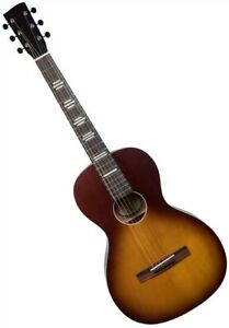 Recording King RPH-P2-TS Dirty 30s Series 9 Parlor Acoustic Guitar in Sunburst