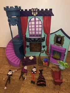 Hotel Transylvania Grand Lobby Mavis figure toy playset bundle KEY Lights Sounds