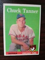 1958 Topps Set Break # 91 Chuck Tanner CHICAGO CUBS FREE SHIPPING