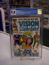 VISON and the SCARLET WITCH V2 #12 (Comics, 1986) CGC 9.8 ~ White Pages