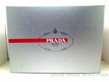 "Authentic Prada Dark Gray Empty Shoe Box 13.75"" x 9.75"" x 5.25"" w/ Tissue Paper"