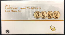 2011 First Spouse Bronze Medal Set -- Four Medals in Original Mint Packaging