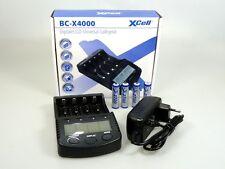 XCell BC-X4000 Ladegerät für NiMH+Li-Ion Akkus USB + 4 x Akku 1,2V 2700mAh