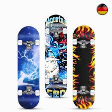 Skateboard Funboard Holzboard komplett 80x20cm Ahornholz Motiv/Rolle Auswahl DE