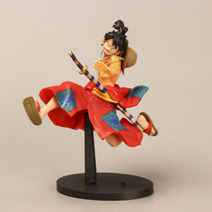 Anime One piece Luff LAND OF WANO  Wano country Samurai fighting style Figurine