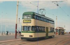 BLACKPOOL TRAM PHOTO PHOTOGRAPH MODERN BALLOON CAR ON PICTURE ON THE PROM 709.