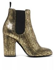 LAURENCE DACADE Mila metallic brushed-leather ankle boots