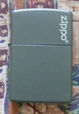 PLAIN GREEN MATTE WITH LOGO ZIPPO LIGHTER FREE P&P FREE FLINTS