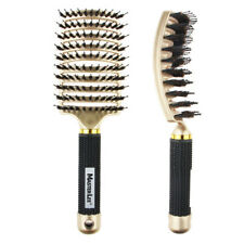Boar Bristle Hair Brush Vented Detangling Hair Comb for Women Curly Wavy Hair