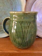 Little Leaf Green Pottery Mug