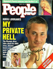 GREG LOUGANIS HAND SIGNED AUTOGRAPHED PEOPLE WEEKLY MAGAZINE WITH COA RARE