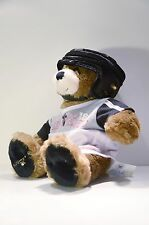 BUILD A BEAR WORKSHOP BROWN WEARING SKATE BOARDING SHIRT and HELMET EUC BEAREMY