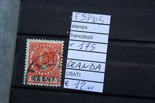 FRANCOBOLLI STAMPS N°175 OLANDA USATI ( F57905)