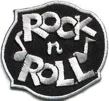 Rock n Roll biker retro white rockabilly music applique iron-on patch S-1113