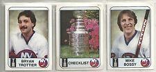 1983-84 New York Islanders - Islander News 38-Card Hockey Set  Mike Bossy