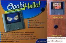 """SPIONCINO DIGITALE PER PORTA BLINDATA PORTONCINO CON MONITOR LCD 2,8"""" OCCHIHELLO"""