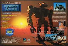 ROBOT WARS__Original 1993 Trade Print AD movie promo__BARBARA CRAMPTON_Full Moon