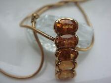 8 quilates Collar / 333ER Oro Joya De Citrino Cadena Colgante