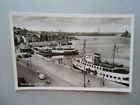 Ansichtskarte Flensburg am Hafen 50/60er? Schiffe