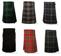Traditional Scottish 5 Yard Tartan Mens Polyviscose Casual Highland Party Kilts