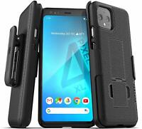Google Pixel 4 / XL Belt Clip Case w Kickstand Holster Cover