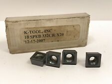 K Tool 10 Speb 332cb New Carbide Inserts Grade X20 4pcs