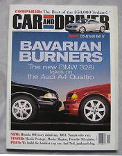 Car & Driver 11/1998 featuirng Audi, BMW, Porsche Carrera, Mosler Raptor, Lexus