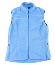 Womens Eastern Mountain Sports Fleece Vest MEDIUM Pale Blue Full Zipper Pockets